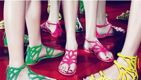 2011夏季推糖果色系列凉鞋